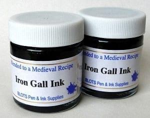 Two jars Iron Gall Ink with Free Principal EF nib 1