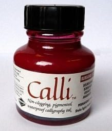 Daler Rowney Calli Calligraphy Ink 29.5ml Burgundy