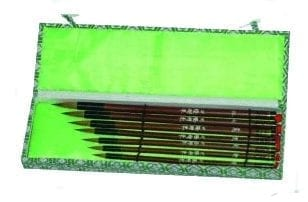 Set of seven Chinese brushes 1