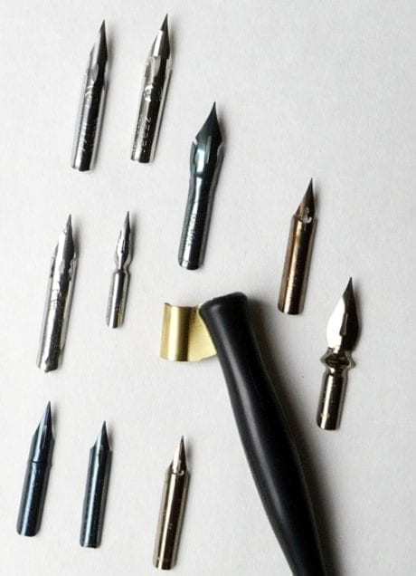 Copperplate Nib Selection 2