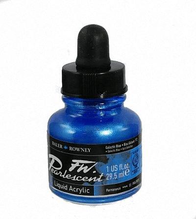 Pearlescent Acrylic 29.5ml Galactic Blue 1