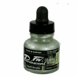 Pearlescent Acrylic Silver Moss