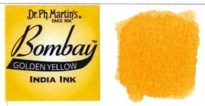 Bombay India Ink Golden Yellow 30ml