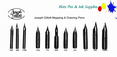 Set of Gillott Nibs with 2 Penholders and Iron Gall Ink 1