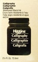 Higgins Black Calligraphy Ink 1