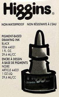 Higgins Non-Waterproof Drawing Ink 1 floz 1