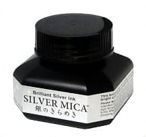 Kuretake Silver Mica Ink 60ml 1