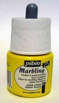 Pebeo Marbling Ink Lemon Yellow 45ml 1