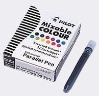 Pack of 12 Pilot Parallel Colour Ink Cartridges 1