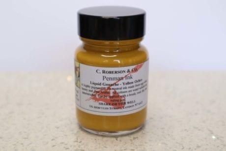 Roberson Liquid Gouache Yellow Ochre