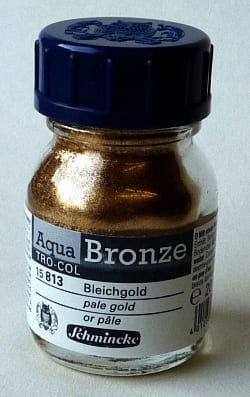 Schmincke Aqua Bronze Powder Pale Gold