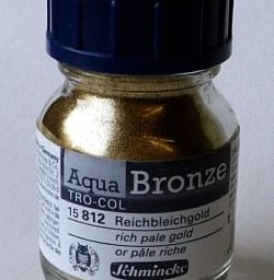 Schmincke Aqua Bronze Powder Rich Pale Gold