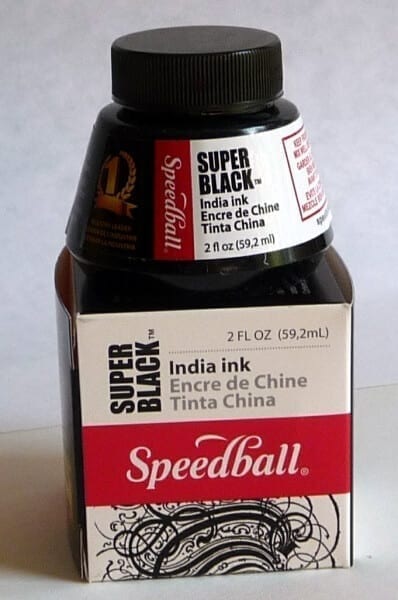 Speedball Super Black India Ink Box