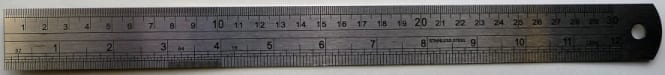 "Stainless Steel Ruler 12"" 1"