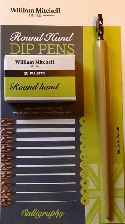 William Mitchell Round Hand Pens Left Oblique