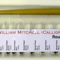 Box of William Mitchell Round Hand Square Pens Set
