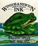 Winsor & Newton Drawing Ink Brilliant Green 1