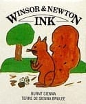 Winsor & Newton Drawing Ink Burnt Sienna 14ml