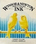 Winsor & Newton Drawing Ink Canary Yellow 14ml