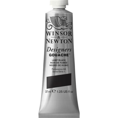 Winsor Newton Gouache Lamp Black 37ml