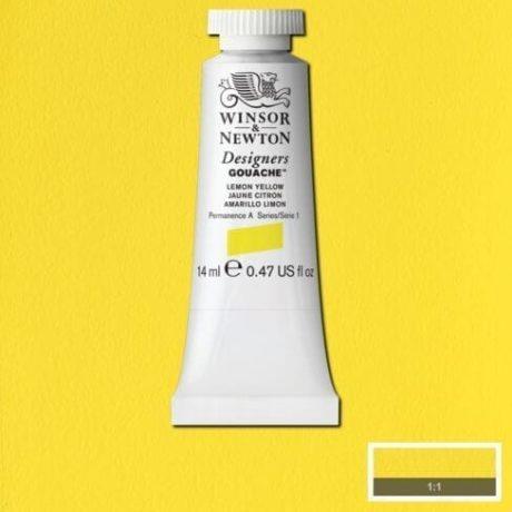 Winsor Newton Gouache Lemon Yellow