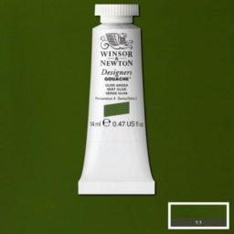 Winsor Newton Gouache Olive Green