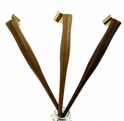 Wooden Oblique Penholder - Teak 1