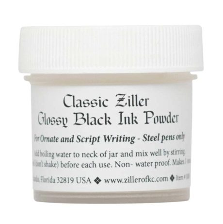 Ziller Ink Glossy Black Ink Powder