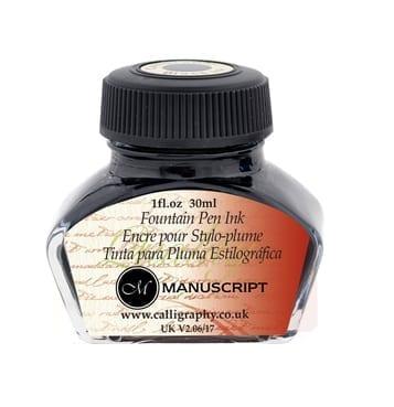manuscript black calligraphy ink