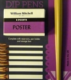 william mitchell poster pen set