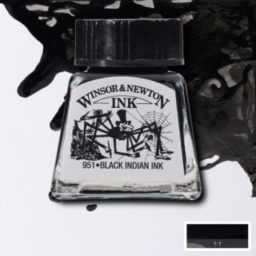winsor and newton drawing ink black india ink