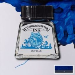 winsor and newton drawing ink blue