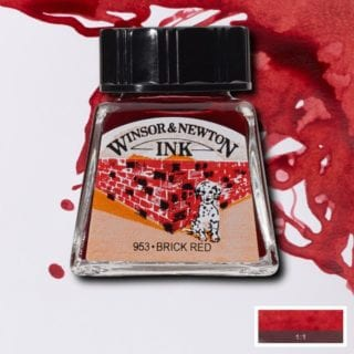 winsor and newton drawing ink brick red
