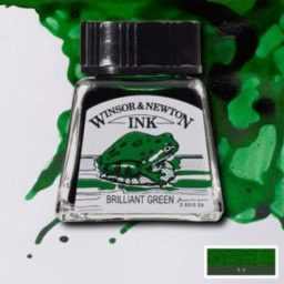 winsor and newton drawing ink brilliant green