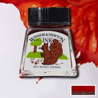 winsor and newton drawing ink burnt sienna