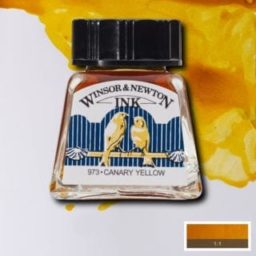 winsor and newton drawing ink canary yellow