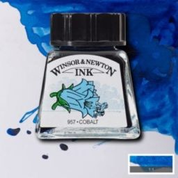 winsor and newton drawing ink cobalt