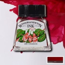 winsor and newton drawing ink crimson