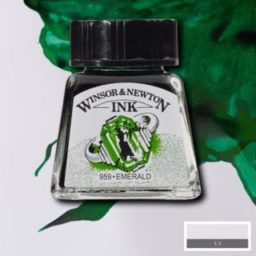 winsor and newton drawing ink emerald