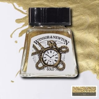 winsor and newton drawing ink gold