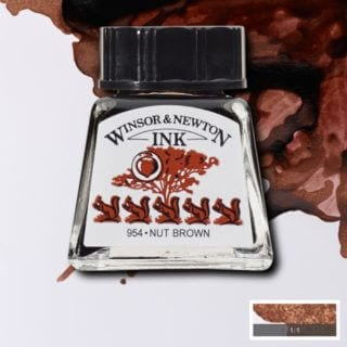 winsor and newton drawing ink nut brown