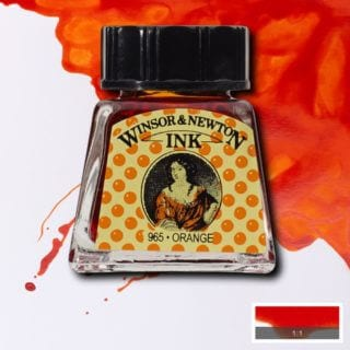 winsor and newton drawing ink orange