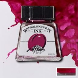 winsor and newton drawing ink purple