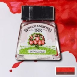 winsor and newton drawing ink scarlet