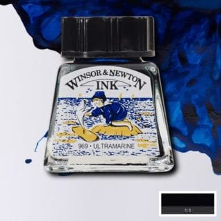 winsor and newton drawing ink ultramarine