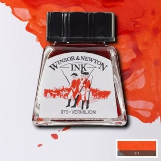 winsor and newton drawing ink vermillion