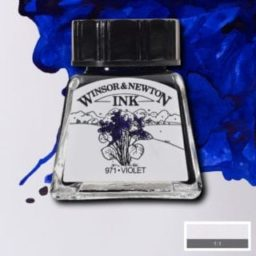 winsor and newton drawing ink violet