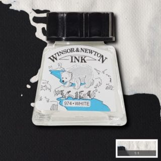 winsor and newton drawing ink white