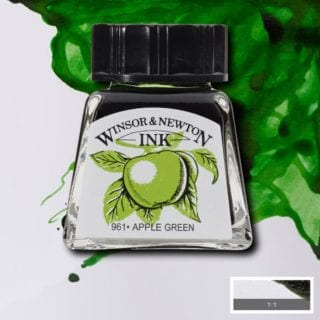 winsor newton drawing ink apple green