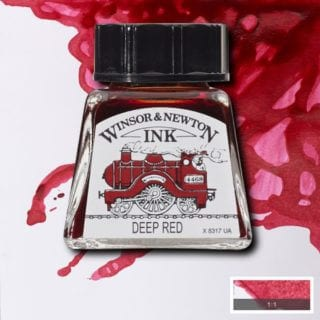winsor newton drawing ink deep red